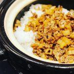 蓮根と牛肉のガーリックご飯